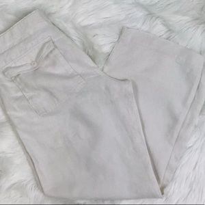Banana republic linen pants 34x30 light tan sand